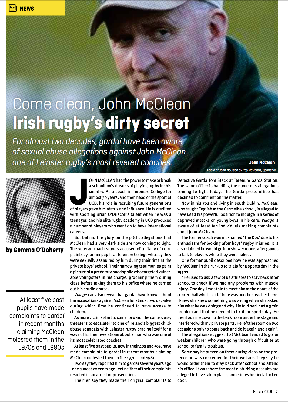 Come Clean John McClean Irish Rugby Dirtly Secret