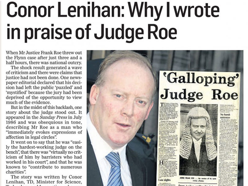 Conor Lenihan and Judge Roe