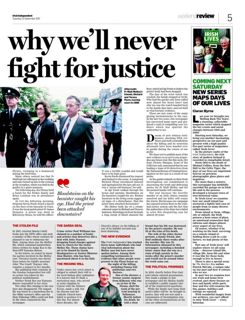 Fr Molloy fight for justice Gemma O'Doherty 2