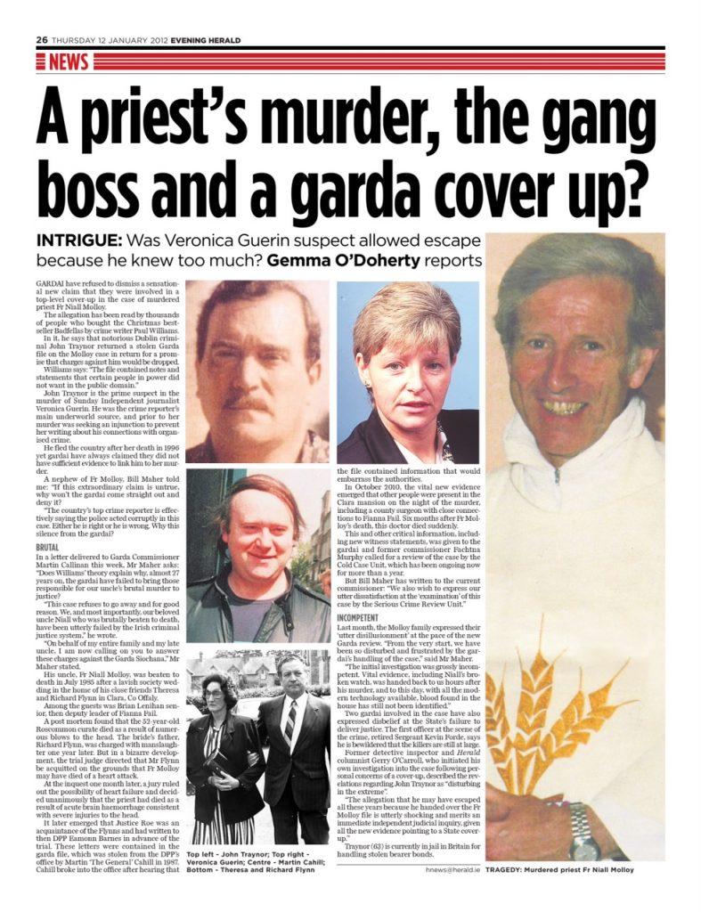 Fr Molloy garda cover up Gemma O'Doherty