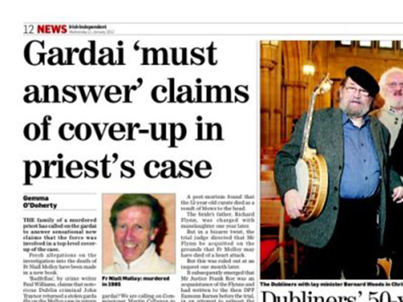 Gardai must answer claims of cover-up