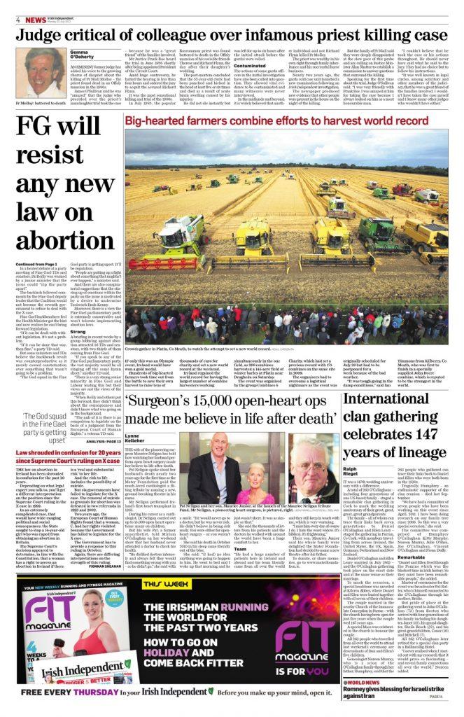 Fr Molloy judge criticism of Roe Gemma O'Doherty