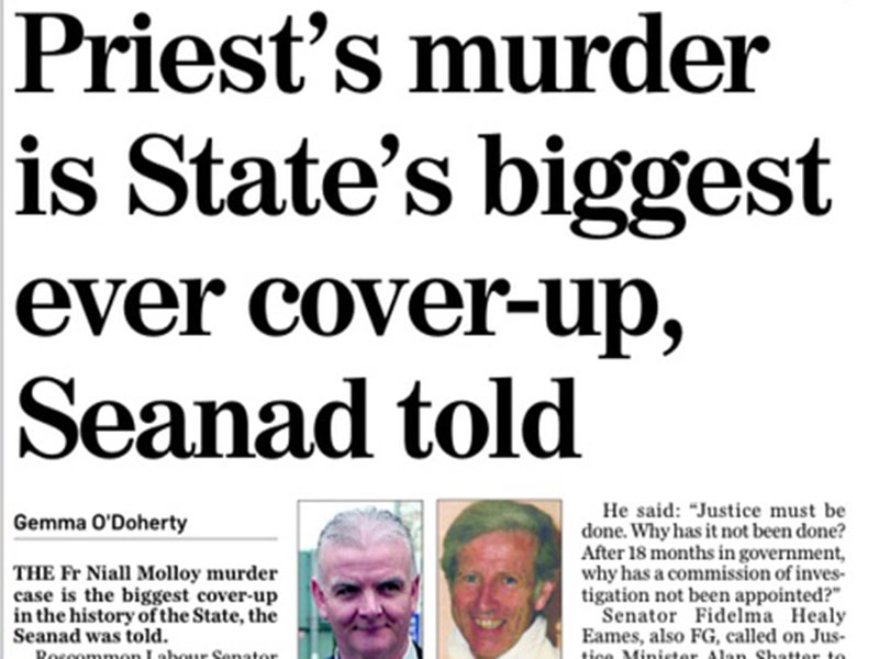 Priests murder is states biggest cover-up