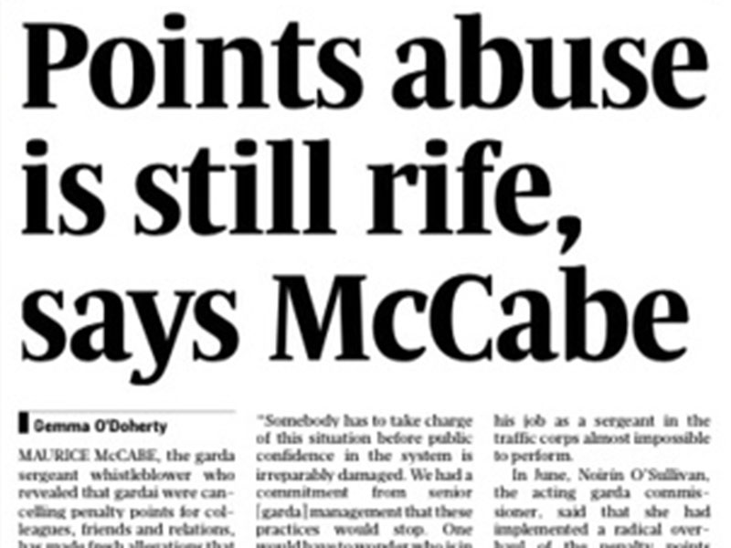 Penalty points abuse is still rife, says McCabe
