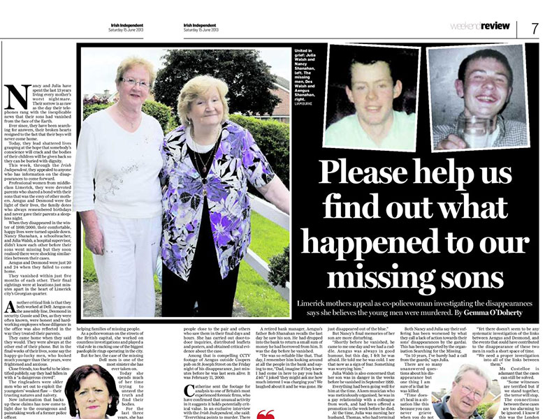Limerick missing men
