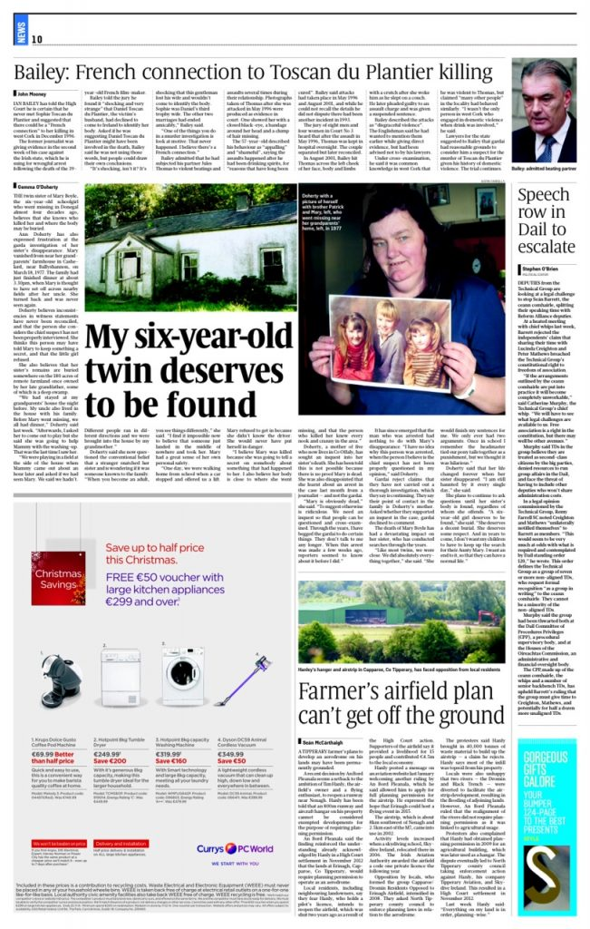 Mary Boyle Sunday Times Gemma O'Doherty