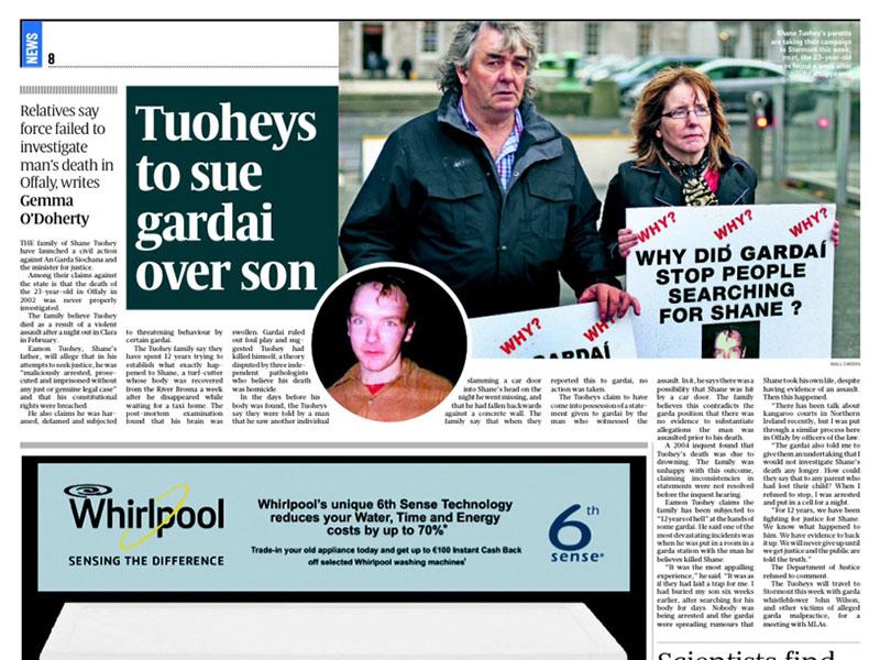 Shane Tuohey case